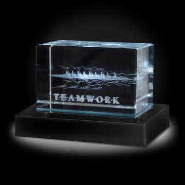 Teamwork Rowers 3D Crystal Award