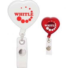 "Tradeshow & Event Supplies - Caring Heart - Retractable badge holder, 1 1/2"" x 3 3/8"" x 7/8"""