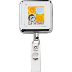 Tradeshow & Event Supplies - Square metal retractable badge holder