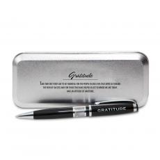 Pen Sets - Gratitude Cherry Blossoms Chrome Pen