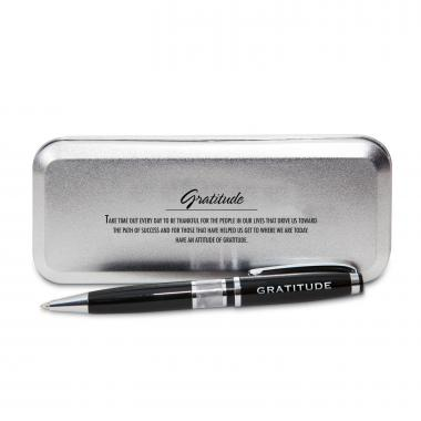 Gratitude Cherry Blossoms Chrome Pen