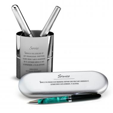 Leadership Compass Chrome Pen Gift Set