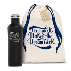 Personalized - Corkcicle 16oz Canteen Teamwork Dream Work