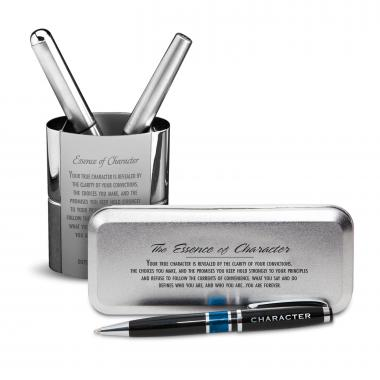 Gratitude Cherry Blossoms Chrome Pen Gift Set