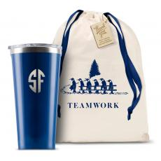 Teamwork - Monogram Corkcicle 16oz Tumbler Teamwork Gift