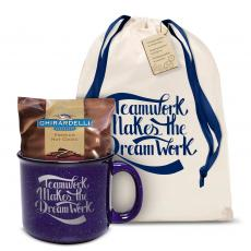 Candy & Food - Teamwork Dream Work Camp Mug Gift Set