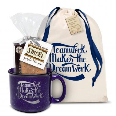 Teamwork Dream Work Camp Mug Gift Set