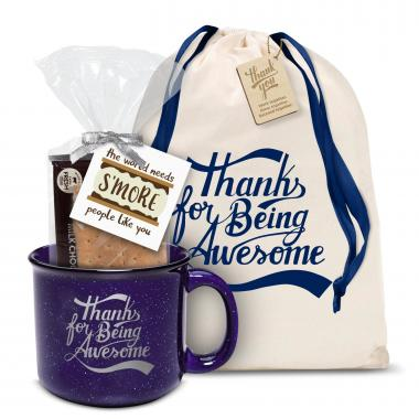 Thanks for Being Awesome Camp Mug Gift Set