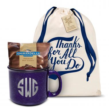 Ceramic Camp Mug Gift Set Monogram