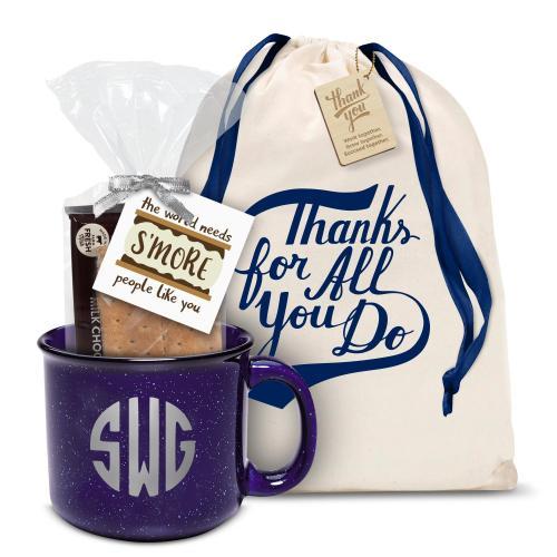 Ceramic Camp Mug Gift Set Monogram