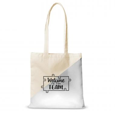 Canvas Tote Welcome to the Team