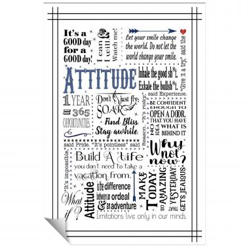 Attitude Blue Inspirational Art
