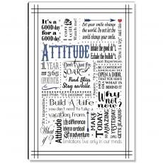 Newest Additions - Attitude Blue Inspirational Art