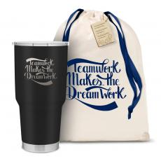 New Products - The Big Joe - Teamwork Dream Work 30oz. Stainless Steel Tumbler
