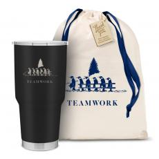 Holiday Gifts - The Big Holiday Joe - Teamwork Penguins 30oz. Stainless Steel Tumbler
