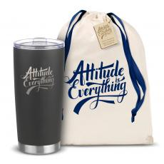 Steel Tumblers & Bottles - The Joe - Attitude is Everything 20oz. Stainless Steel Tumbler