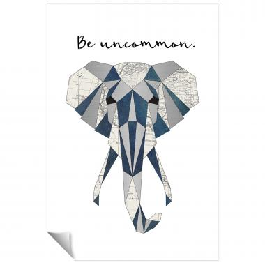 Be Uncommon Elephant Inspirational Art