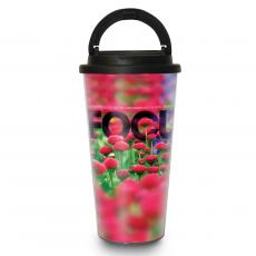 Travel Mugs - Focus Flowers 16oz Travel Mug