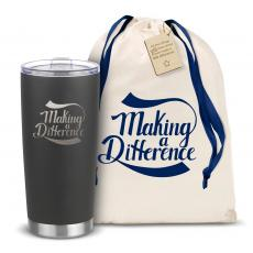 Steel Tumblers & Bottles - The Joe - Making a Difference 20oz. Stainless Steel Tumbler