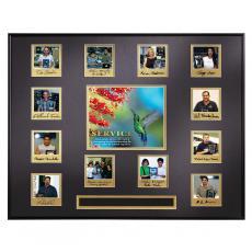 Photo Perpetual Framed Award - Service Hummingbird Perpetual Award Plaque