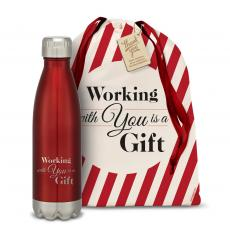 Vacuum Insulated - Working With You is a Gift Swig 16oz Bottle