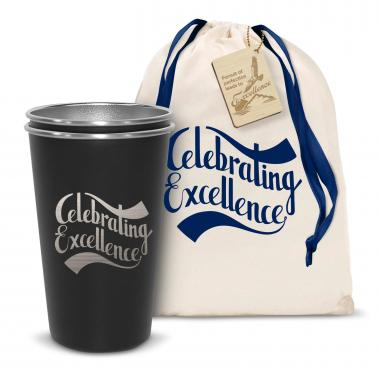 Pair of Celebrating Excellence 16oz Stainless Steel Pint Cup