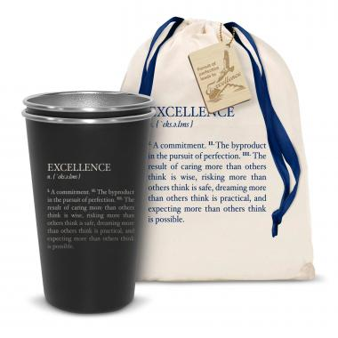 Pair of Excellence Definition 16oz Stainless Steel Pint Cup