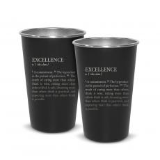 Executive Drinkware - Pair of Excellence Definition 16oz Stainless Steel Pint Cup