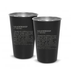 New Products - Pair of Leadership Definition 16oz Stainless Steel Pint Cup