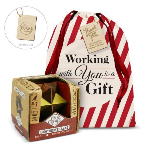 Lighthouse Flame Brain Teaser Holiday Gift Set