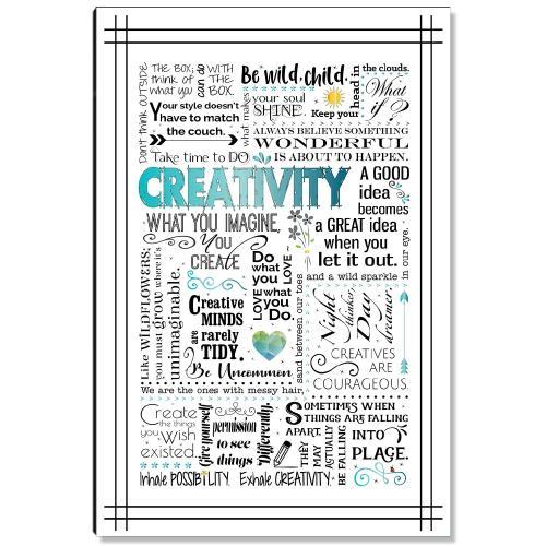 Creativity Blue Inspirational Art