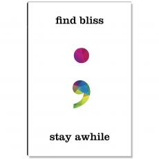 Motivational Posters - Find Bliss Geometry Inspirational Art