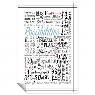 Possibilities Blue Inspirational Art
