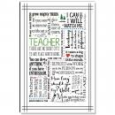 Teacher Green Inspirational Art
