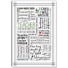 Newest Additions - Teacher Green Inspirational Art