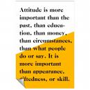 Attitude Is More Important Inspirational Art