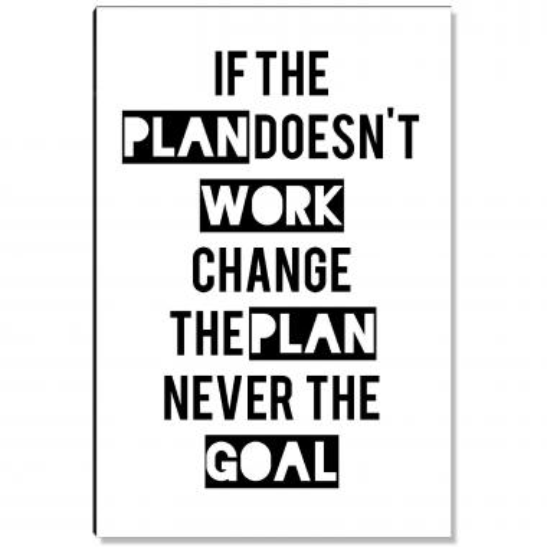 Change The Plan Inspirational Art
