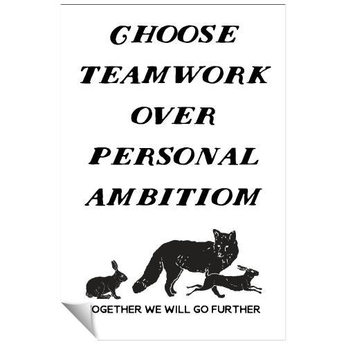Choose Teamwork Inspirational Art
