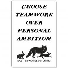Workplace Wisdom - Choose Teamwork Inspirational Art