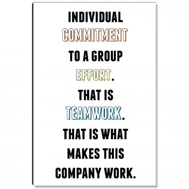 Commitment To Teamwork Inspirational Art