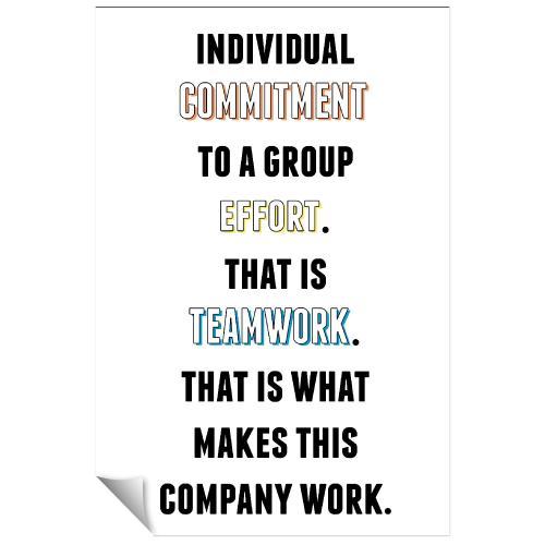 Commitment To Teamwork Inspirational Art