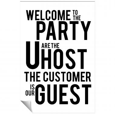 Customer Is Our Guest Inspirational Art