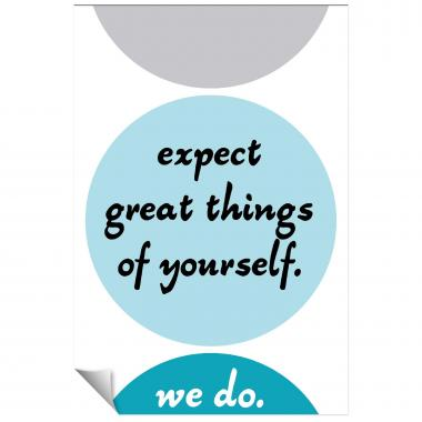 Expect Great Things Inspirational Art