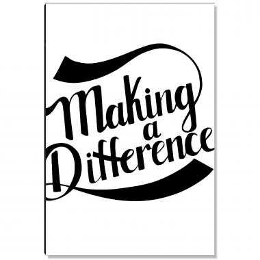 Making A Difference Inspirational Art