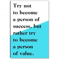Motivational Posters - Person Of Value Inspirational Art
