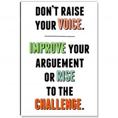 Motivational Posters - Rise To The Challenge Inspirational Art