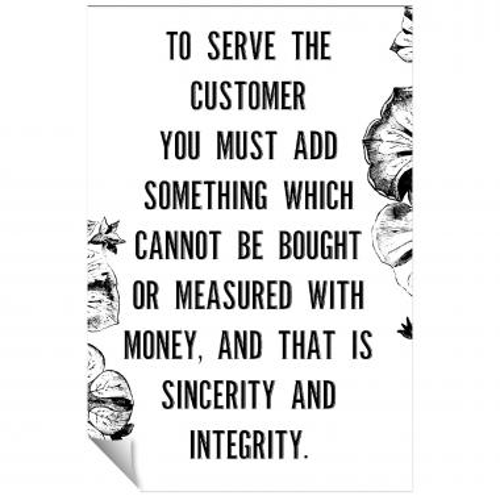 Serve The Customer Inspirational Art