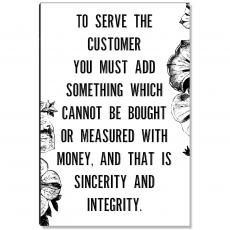 Workplace Wisdom - Serve The Customer Inspirational Art