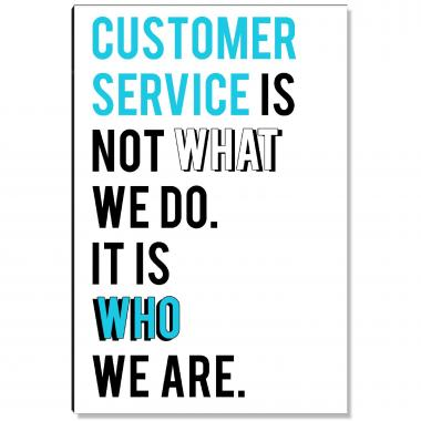 Service Is Who We Are Inspirational Art