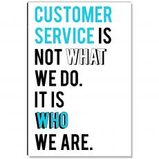 Workplace Wisdom - Service Is Who We Are Inspirational Art